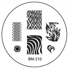 Bundle Monster Stamping Schablone Plate BM-210 Nailart Nageldesign Wellen Waves