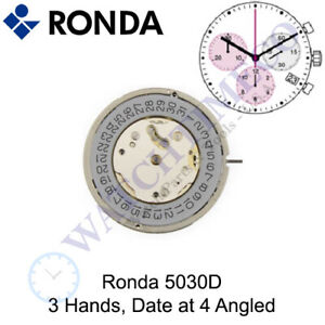 Genuine Ronda 5030D Watch Movement Swiss Parts (Multiple Variations)