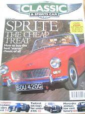 CLASSIC SPORTSCAR MAGAZINE MAR 1998 SPRITE DAYTONA COBRA TIN-TOPS MERCEDES 450SL