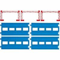 Pla double track straight rail 4 R-04 pieces