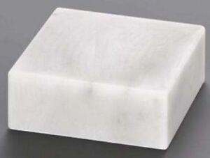 Marmorsockel OHNE Bohrung (verschiedene Größen erhältlich), weiß