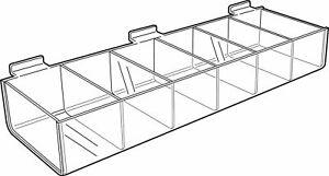 Slat Wall Acrylic Ribbon Dispenser - Slatwall Plastic Compartment Tray Sweet