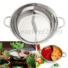 Stainless Steel Hot Pot Shabu Shabu Cookware Dual Site Family Friends Cooking