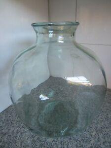 Vintage Large  Green Glass Carboy / Demijohn / Planter