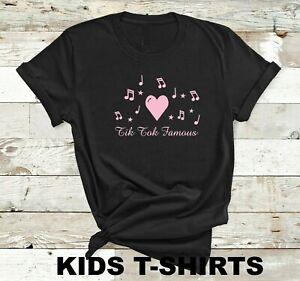 Tik tok famous musical notes - Kids t shirt tik tok music fan Teenager gift top
