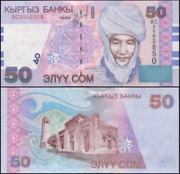 Kirgisistan 50 Som. UNZ 2002 Banknote Kat# P.20a
