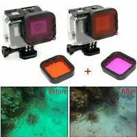 2PC Underwater Diving Lens Filter Red Magenta For Gopro Hero 5 SuperSuit Housing