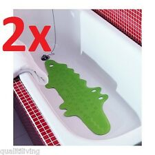 2x IKEA PATRULL Kids Children Crocodile Non-slip Rubber Bathtub Bath Shower Mat