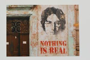 JOHN LENNON : Nothingis real,  Art-Postcard  NEW