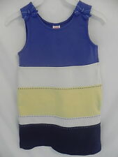 Gymboree Teal Layered Sleeveless Dress w/ bows and side zipper 4T