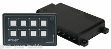 Switch Panel LED 12 volt 8 Gang Membrane Panel Touch Control Relaxn IP 66 Rating