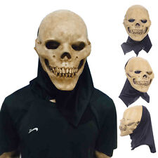 Novelty Halloween Scary Skull Mask Cosplay Skeleton Azrael Costume Theater Prop