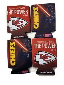 Kansas City Chiefs Lot 4 Darth Vader Star Wars Can COOZIE KOOZIE Cooler Holder
