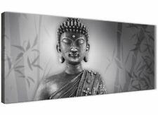 Black White Buddha Living Room Canvas Wall Art Accessories - 1373 - 120cm Print