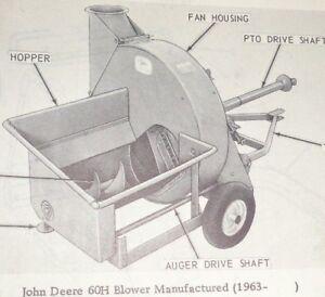 John Deere 60H Forage Blower Parts Catalog Manual Book JD