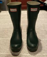 Womens Hunter Original Short Boots, Forest Green, Size 10