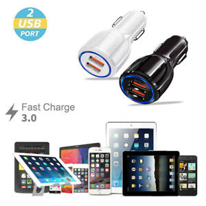 Dual USB 3.1A 12V Car Charger Adapter 3.0 Fast Charging For Android Samsung USA