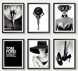 Set of 6 Fashion Vogue Designer Wall Art Bedroom Print Home Posters Gifts  S14