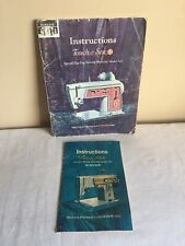 Vintage Mixed Lot Of 2 1960's Singer Zig Zag Sewing Machine Instructional Manual