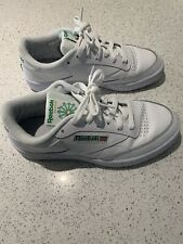 Reebok Club C trainers size 6.5 White Green. Good Condition