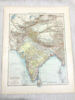 1896 Antique of India Central Asia Tibet Afghanistan Old German 19th Century