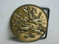 Brass Birds and Branches Belt Buckle