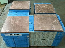 TILES JOBLOT 08: Marble effect matt brown tiles with beautiful marble veins 20m2