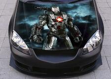 Iron Man War Machine  Car Hood Wrap Full Color Vinyl Sticker Decal Fit Any Car