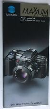 MAXXUM MINOLTA  CAMERAS CATALOG BROCHURE GLOSSY COLOR 55 pages