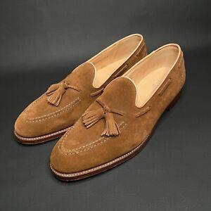 Ralph Lauren Purple Label Brown Luther Tassel Suede Loafers - 12D