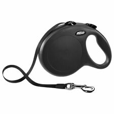 8m Retractable Dog Lead Long Comfortable Black Safety Loop Secure Multi Box