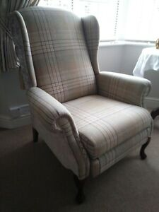 Fabric Wing Back Recliner Fireside Chair