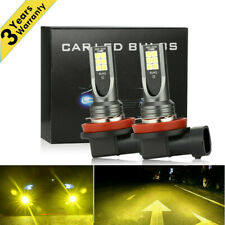 Pair H11 H8 H9 CREE LED Fog Light 3000K Yellow 350W Driving DRL Lamps USA