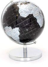 27cm Black Silver World Globe Vintage Rotating Atlas Office Desk Ornament Home