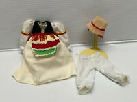 """Antique/Vintage Style 4 pc Vintage Style Doll Dress Fashion for 7"""" to 9"""" doll #4"""