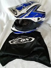 HJC HELMET - CS-MX BLIZZARD SIZE MEDIUM BLUE & WHITE MOTORCYCLE OFF ROAD
