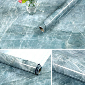 Marble Self Adhesive Kitchen Wall Stickers Waterproof Oil-proof Aluminum Foil