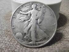 1938-D FINE + WALKING HALF DOLLAR