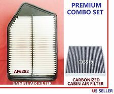 AF6282 C35519 Engine & CARBONIZED Cabin Air Filter Combo for Honda Accord 2.4L