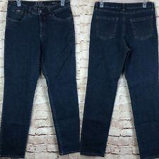 FDJ French Dressing Women Olivia Blue Jeans Stretch Fit Straight Petite Size 10P