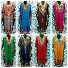 African Dashiki Kaftan Boho Hippe Dress Long length Maxi Caftan 18 20 22 24 26