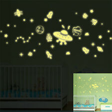 Glow Night Space Hello Home Room Decor Removable Wall Sticker Decal Decorations