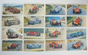 Collectible 1971 Trading - Mobil - The Story Of Grand Prix Motor Racing 16 Cards