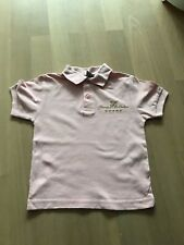 Polo Shirt, rosa, goldfarbene Stickerei, 98/104, ungetragen