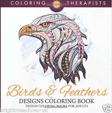 Birds Feathers Adult Colouring Book Flight Wings Detail Intricate Creative Calm