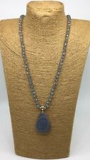 Fashion M-knot Crystal Beads stone Pendant Woman Necklace Gift