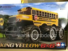 TAMIYA # 58653 RC 1/18 King Yellow 6x6 - G6-01 New In Box
