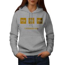 Wellcoda Nerd He He Chemistry Womens Hoodie, Gas Joke Casual Hooded Sweatshirt