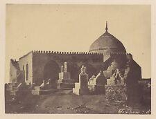 Egypte Tombeau Cimetière musulman Vintage albumine ca 1865
