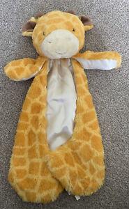 "Rare Baby Gund TUCKER Giraffe Comfy Blanket Plush Satin Huggybuddy Lovey 18"""